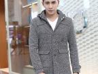 男士秋冬装外套中长款修身韩版羊毛呢子大衣男装呢大衣潮