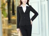 厂家批发 秋款职业套装女装时尚商务抗皱修身西装套装女两件套
