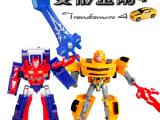 3222较热销儿童动漫擎天柱/大黄蜂 变形金刚4 益智机器人模型