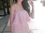 2014夏新款粉嫩甜美蕾丝荷叶鱼尾吊带连衣裙套装两件套女