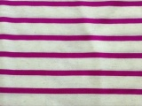 新款针织涤亚麻条子汗布 粘麻小循环条子针