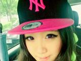 平檐帽NY平沿帽原宿街舞帽BOY嘻哈帽韩版翻沿男女ny棒球帽子批