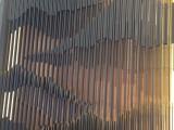 浙江售楼大厅不锈钢山峦屏风跌宕起伏的造型装饰效果出人意料