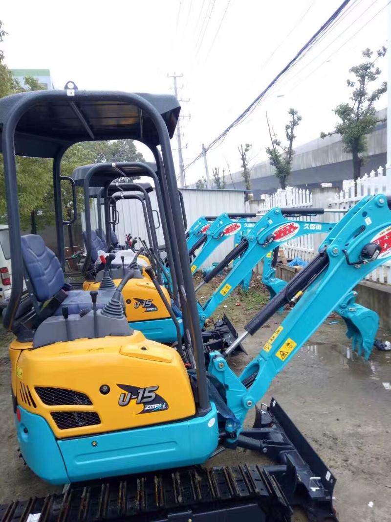 杭州一米宽微型挖掘机租赁15挖土机出租价格图片