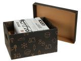 韩纳正品收纳整理储物防尘有盖a4纸质折叠存放箱35*28*40大