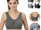 无钢圈睡眠品牌文胸 带胸垫聚拢文胸 运动瑜伽隐形文胸 无痕文胸