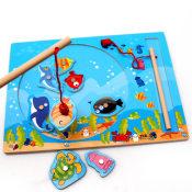 木制玩具.厂家直销磁性海洋钓鱼游戏 木制玩具亲子钓鱼游戏