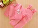厂家直供尾货清仓加厚保暖婴幼儿童装冬季棉袄棉衣0到1岁两件套