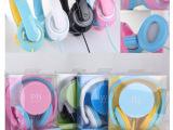 厂家批发 H300带麦HTC/苹果/小米电脑头戴式耳机 糖果色热