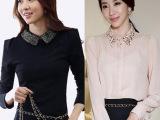 2014秋季新款女装长袖女式时尚套头韩版上衣职业装衬衣衬衫 秋装