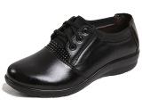 2014新款中年女鞋妈妈鞋软底老人鞋平跟单鞋女真皮鞋鞋厂一件代发