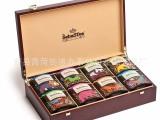 批发供应出口俄国精美八格茶叶盒 木质茶叶盒礼品盒包装盒定做