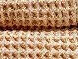 什么是砂洗华夫格棉毯
