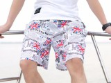 2018男式沙滩裤夏季海边休闲短裤时尚五分裤冲浪裤批发直销