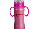 不锈钢手柄保温奶瓶180ml品牌儿童婴儿用品厂家直销母婴用品批发