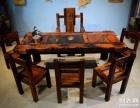 清远市老船木茶桌椅子仿古茶台实木沙发茶几餐桌办公桌家具博古架