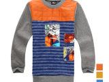 【宾果玩家】 韩版大童加绒加厚柔软保暖织里童装卫衣打底衫