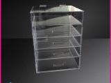 新款透明亚克力盒子化妆品收纳盒多层抽屉式收纳盒大号抽屉收纳盒