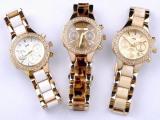 手表厂家批发时尚女式时装表 仿陶瓷带钻石英表21