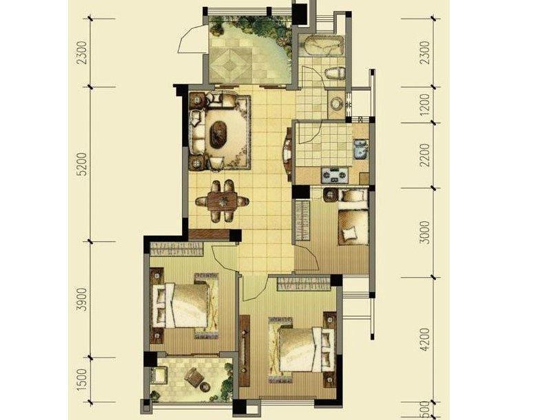 海德公园送双层车位 3室2厅 95.6平米 小高层急售