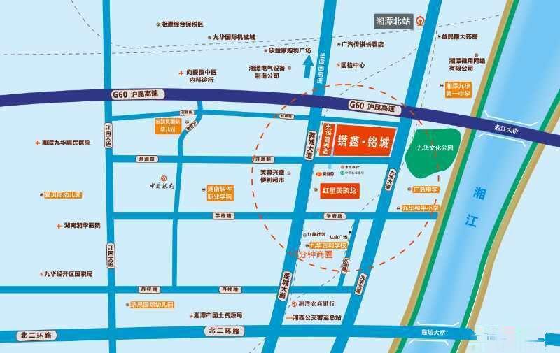 锴鑫铭城 九华大楼红星美凯龙 2室1厅87平米出售