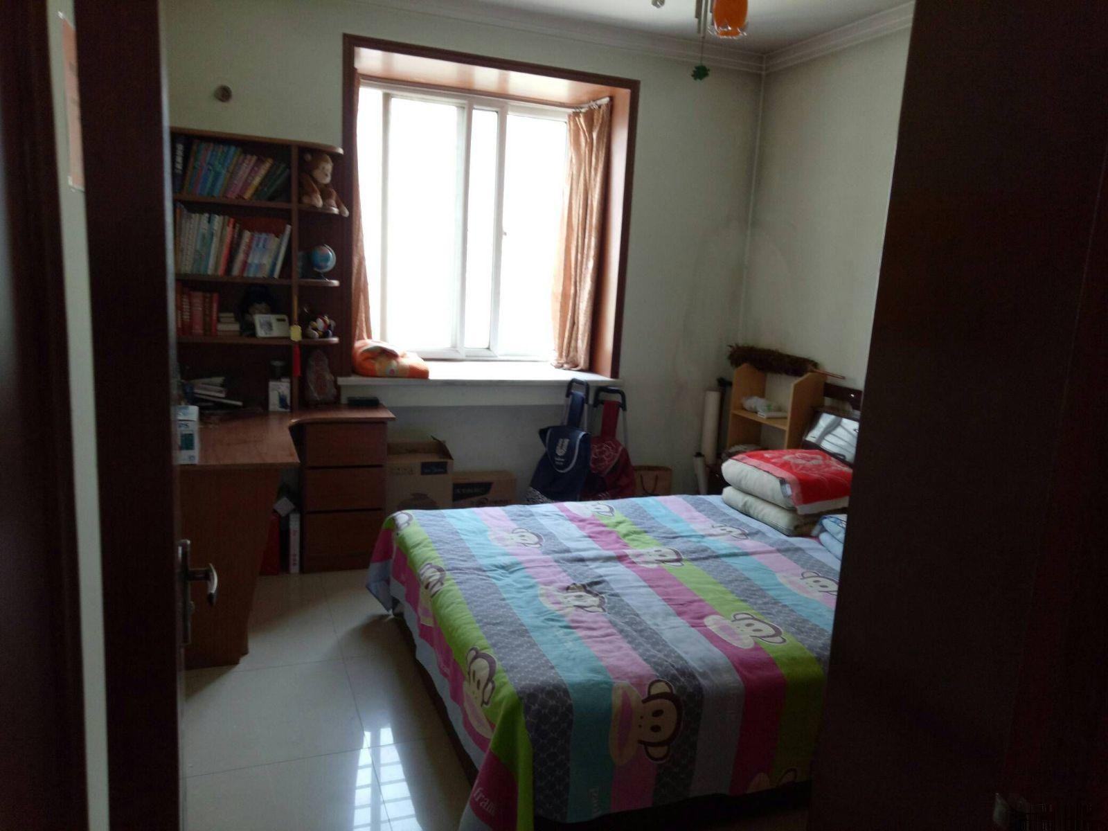 岗当新村,好楼层两室,全套家具家电, 出租,有钥匙岗当新村