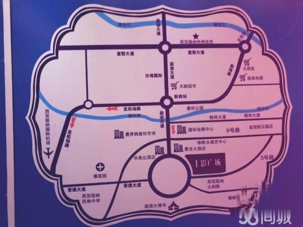 上影广场 紧邻勐泐大佛寺 森林公园 未来将建设游客集散中