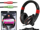 网吧专用 科麦KM2010新款超重低音头戴式外麦电脑耳机超震憾音