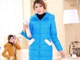 2014新款正品女式羽绒服优质外贸女装长款连帽羽绒服厂家直批