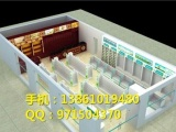 杭州定做木质烤漆药店柜台货架,厂家制作西