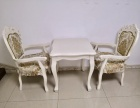 700 700简欧风格雕花桌共6张,矮茶几2张