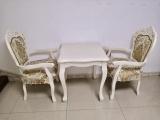 简欧风格雕花桌共6张,矮茶几2张