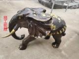 广场铜大象雕塑 黄铜大象 铸造大象工艺品