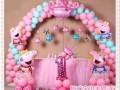 生日宴 宝宝宴 小丑 气球拱门 空飘舞台