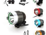 厂家直销LED手电筒 T6/U2 L2自行车灯头灯1200LM