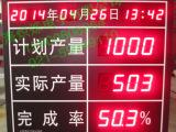 电子看板计数器显示屏LED车间流水线服装厂计件器订做485通讯看