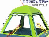 户外防风防雨防紫外线防晒3-4人野营露营帐篷带顶窗隔热折叠帐篷