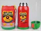 正品韩国悲剧熊BeddyBear儿童双盖保温杯 杯具熊吸管真空保