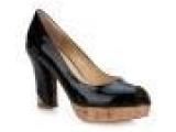 女鞋诗莱迪2012新款春鞋真皮简约纯色 鱼嘴女凉鞋 牛漆皮SLD