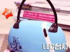 厂家直销 创意时尚手提包 LED充电台灯读书灯 可折叠台灯 包包灯