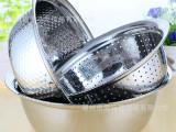 源产地加厚不锈钢米筛3三件套加厚洗米盆洗菜盆和面盆水果沥水盆