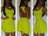欧美爆款夏季新款性感连衣裙后背漏空无袖绷带连衣裙
