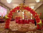 长沙寿宴布置-长沙气球布置-红色喜庆寿宴布置