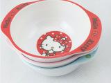 厂家可爱hellokitty粉色凯蒂猫卡叮当猫儿童饭碗仿瓷密胺碗