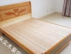 出售实木豪华床350元,高档床垫260元,包送