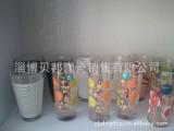 供应套装玻璃贴花瓶 贴花玻璃杯