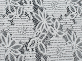 白色精美花朵图案太阳花玫瑰花网布蕾丝面料服装女