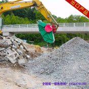 上海建筑垃圾破碎机 挖机破碎石子铲斗 挖掘机破碎斗