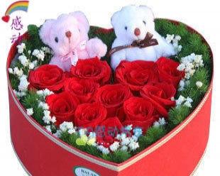 情人节网上订花玫瑰百合花束节日生日免费配送