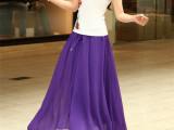 2014夏季新款韩版女式清新百搭纯色度假裙半身裙大摆长裙吊带裙